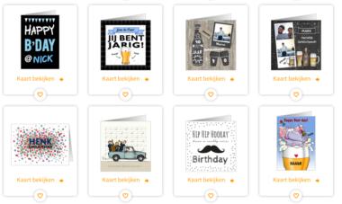 Verjaardagskaarten voor mannen